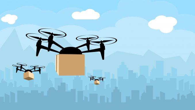 Droni - concept ed esempio di applicazione per la consegna dei pacchi