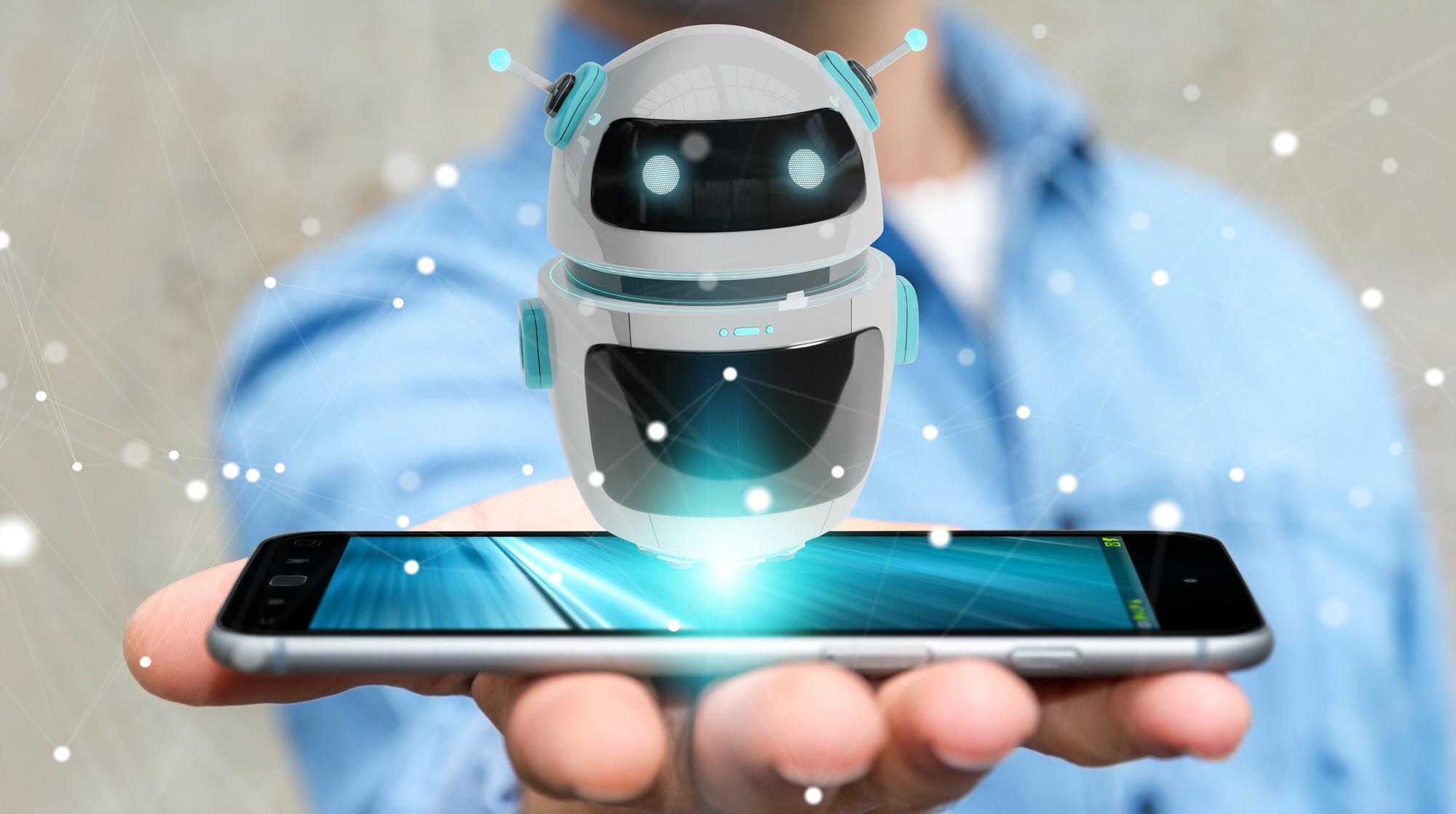 Bot su uno smartphone