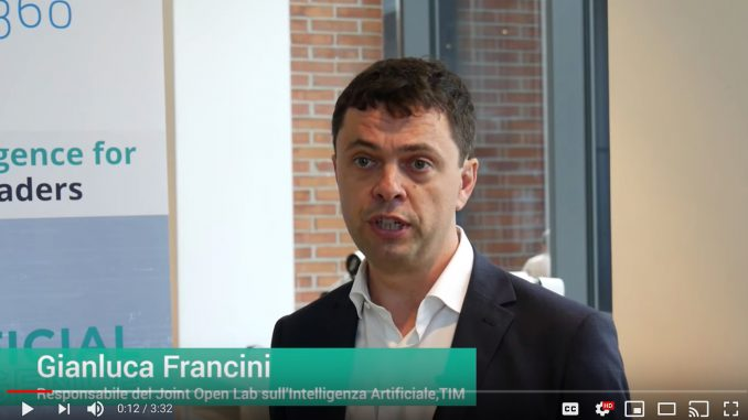 Gianluca Francini, Responsabile del Joint Open Lab sull'Intelligenza Artificiale di TIM