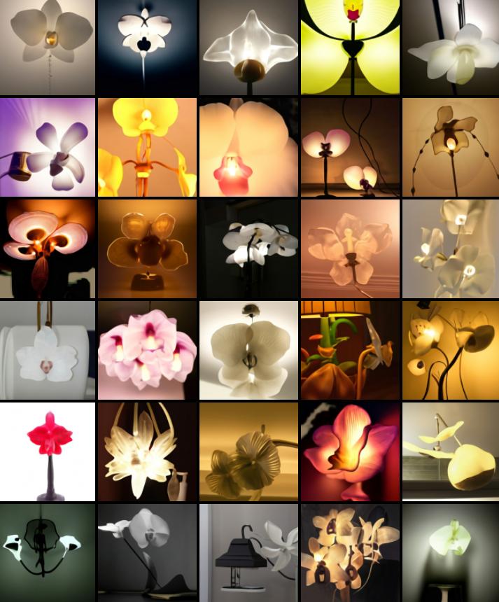 DALL-E lampada orchidea