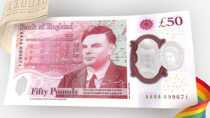 banconota da 50 sterline con Turing